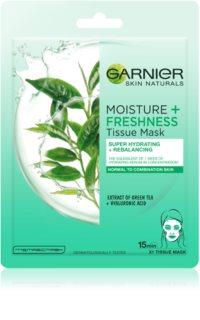 Garnier Skin Naturals Moisture+Freshness Super Hydraterende Reinigings Textiel Masker  voor Normale tot Gemengde Huid