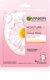 Garnier Skin Naturals Moisture+Comfort masque en tissu ultra hydratant et apaisant  pour peaux sèches à sensibles