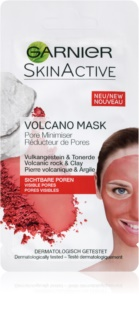 Garnier Skin Active hřejivá pleťová maska se sopečnými minerály a jílem stahující póry