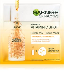 Garnier Skin Naturals Fresh Mix Mask Vitamin маска  для сухої шкіри
