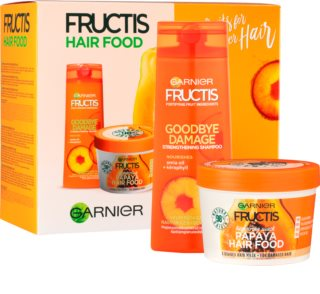 Garnier Fructis Papaya Hair Food козметичен пакет  I. (за увредена коса)