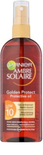 Garnier Ambre Solaire Golden Protect olje za sončenje SPF 10