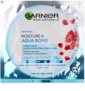 Garnier Skin Naturals Moisture+Aqua Bomb силно хидратираща попълваща маска за лице от платно