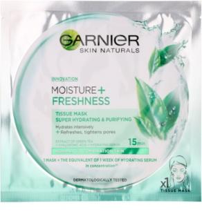 Garnier Skin Naturals Moisture+Freshness super hydratačná čistiaca textilná maska pre normálnu až zmiešanú pleť