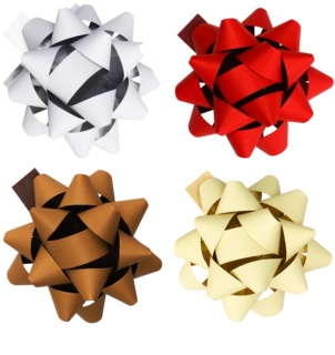 Giftino Wrapping  estrella adhesiva decorativa grande, set de 4 colores