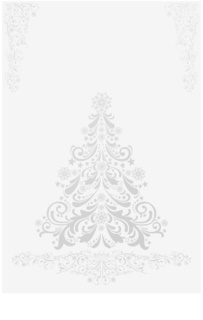 Giftino      Silver Tree Christmas Card without text (A6)