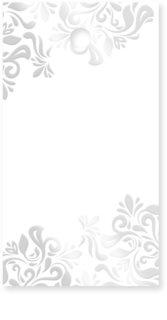 Giftino      ajándék névkártyák Silver 15 db
