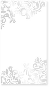 Giftino      Gastgeschenk Namensschildchen Silber 15 Stk.