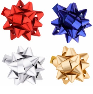Giftino      Decorative Stick-On Star - Set of 4 Colours