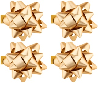 Giftino Wrapping  Stick-On Decorative Star - small, glossy, 4pcs