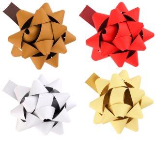 Giftino      Deko-Sterne für Geschenke selbstklebend klein Set mit vier Farben