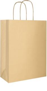 Giftino    1 db ajándék aranyszínű eko táska nagy méretben (220 x 290 x 100 mm)
