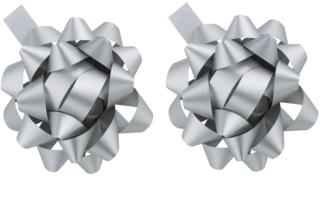 Giftino      étoile de décoration en argent - effet mat 2 pièces