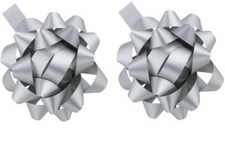 Giftino      Gift Decoration Star Silver, 2pcs
