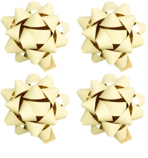 Giftino Wrapping  Stick-On Decorative Star - small, matte, 4pcs