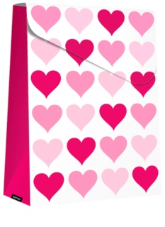 Giftino     sac cadeau pliable Pink Hearts - grand (140 x 40 x 210 mm)