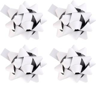 Giftino     decoración para regalo estrella blanca mate 4 uds