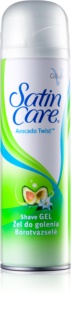 Gillette Satin Care Avocado Twist Shaving Gel For Women