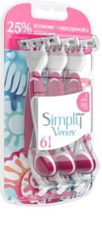 Gillette Simply Venus 3 Plus One Time Razors 6 pcs
