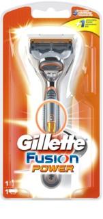 Gillette Fusion Power rasoir à piles + lames de rechange 1 pièce