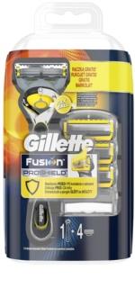 Gillette Fusion Proshield Scheerapparaat + Vervangende Bladen 4st.