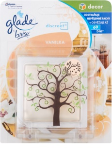 Glade Discreet Decor Désodorisant 8 ml + support Vanilla