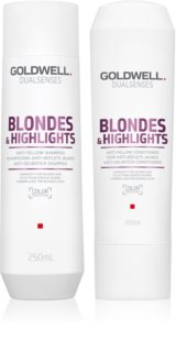 Goldwell Dualsenses Blondes & Highlights kozmetički set (neutralizirajući žuti tonovi)