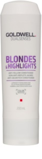 Goldwell Dualsenses Blondes & Highlights Conditioner für blondes Haar neutralisiert gelbe Verfärbungen