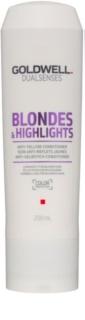 Goldwell Dualsenses Blondes & Highlights odżywka do blond włosów neutralizujący żółtawe odcienie
