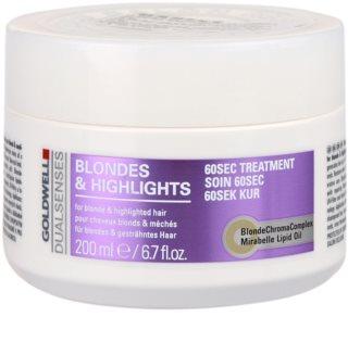 Goldwell Dualsenses Blondes & Highlights maska pre melírované vlasy
