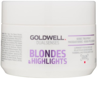 Goldwell Dualsenses Blondes & Highlights Regenerating Mask Neutralizes Yellow Tones