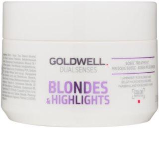 Goldwell Dualsenses Blondes & Highlights маска для регенерації  для нейтралізації жовтизни