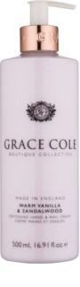 Grace Cole Boutique Warm Vanilla & Sandalwood mehčalna krema za roke in nohte