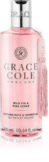 Grace Cole Wild Fig & Pink Cedar umirujući gel za kupku i tuširanje