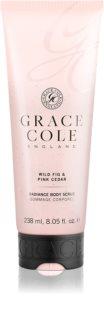 Grace Cole Wild Fig & Pink Cedar exfoliant pentru corp cu efect de iluminare