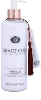 Grace Cole Boutique Ginger Lily & Mandarin zjemňující krém na ruce a nehty