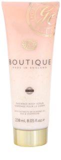 Grace Cole Boutique Vanilla Blush & Peony rozjasňující tělový peeling