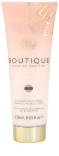 Grace Cole Boutique Vanilla Blush & Peony rozjasňujúci telový peeling