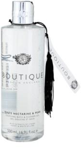 Grace Cole Boutique White Nectarine & Pear łagodzący żel pod prysznic i do kąpieli