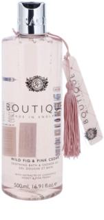 Grace Cole Boutique Wild Fig & Pink Cedar upokojujúci kúpeľový a sprchový gél