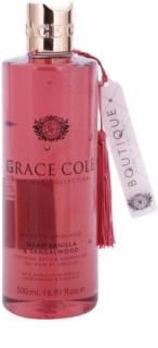 Grace Cole Boutique Warm Vanilla & Sandalwood успокояващ гел за вана или душ