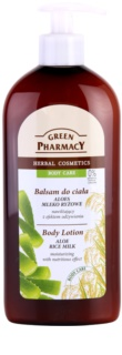 Green Pharmacy Body Care Aloe & Rice Milk lotiune de corp hidratanta cu efect de nutritiv