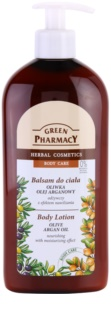 Green Pharmacy Body Care Olive & Argan Oil leite corporal nutritivo com efeito hidratante