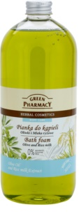 Green Pharmacy Body Care Olive & Rice Milk espuma de baño