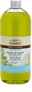 Green Pharmacy Body Care Olive & Rice Milk пінка для ванни