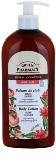 Green Pharmacy Body Care Rose & Ginger Herstellende Body Melk  met Verstevigende Werking