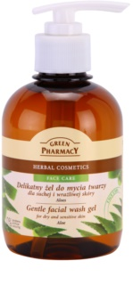 Green Pharmacy Face Care Aloe nježni gel za čišćenje za osjetljivu i suhu kožu lica