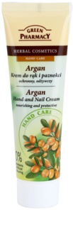 Green Pharmacy Hand Care Argan Nourishing and Protective Cream On Hands And Nails
