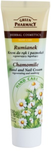 Green Pharmacy Hand Care Chamomile Regenerating and Soothing Cream On Hands And Nails