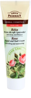 Green Pharmacy Hand Care Rose crema hidratante y nutritiva para manos y uñas